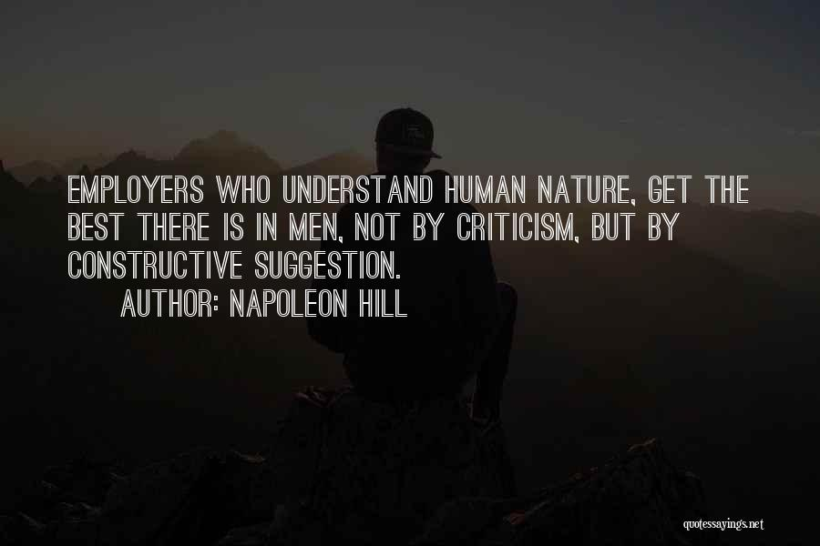 Constructive Criticism Quotes By Napoleon Hill