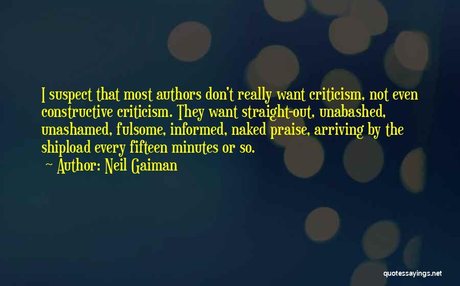 Constructive Criticism Quotes By Neil Gaiman