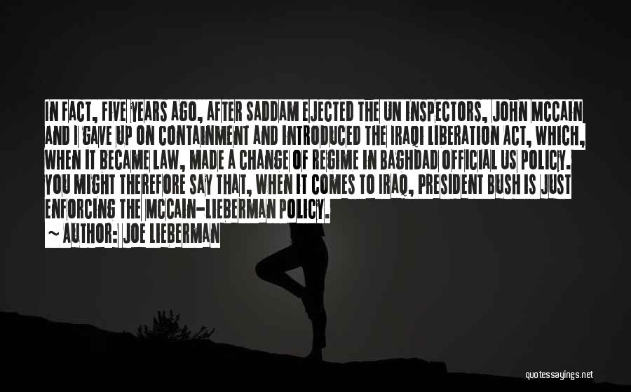 Containment Policy Quotes By Joe Lieberman