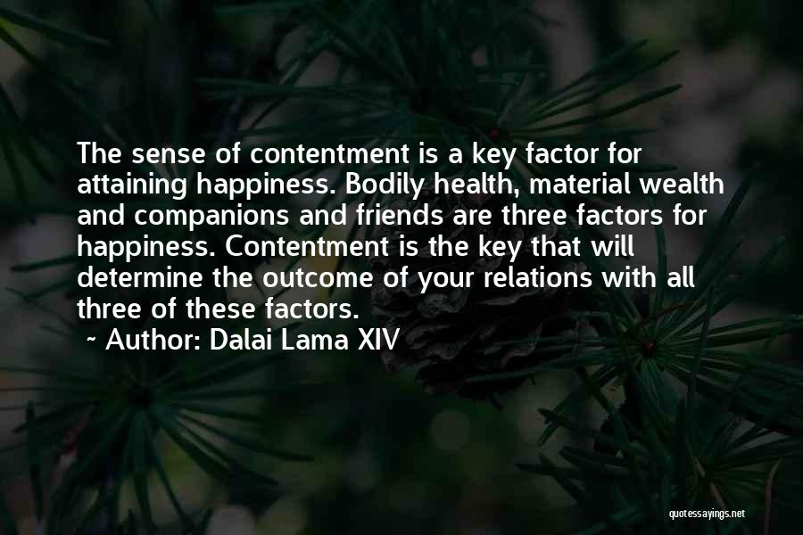 Contentment Is The Key To Happiness Quotes By Dalai Lama XIV