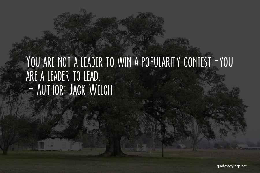 Contest Win Quotes By Jack Welch