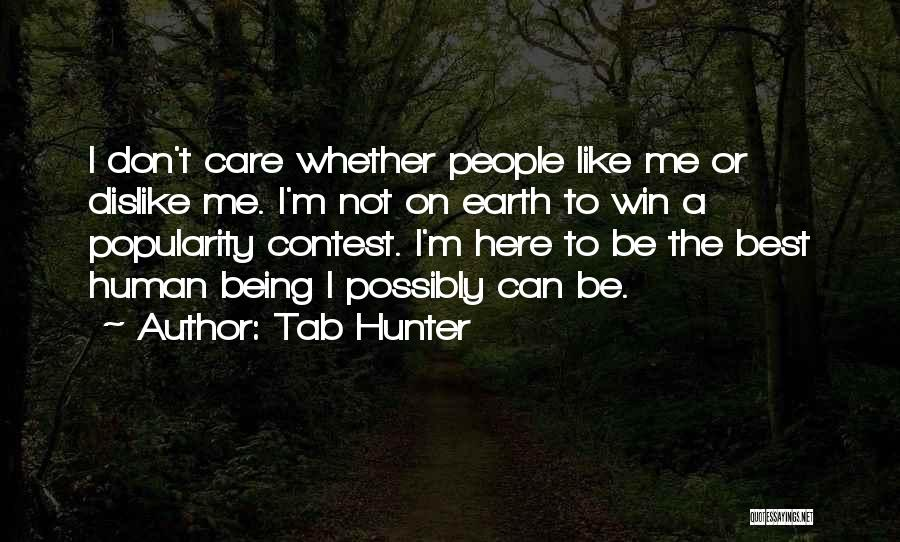 Contest Win Quotes By Tab Hunter