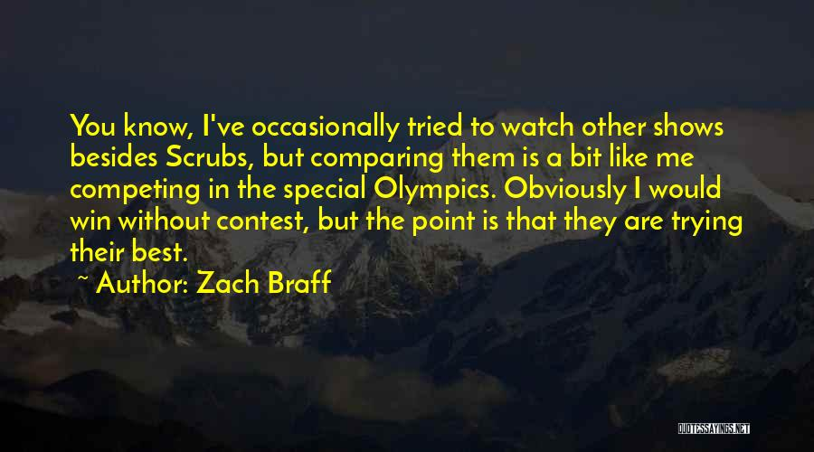 Contest Win Quotes By Zach Braff