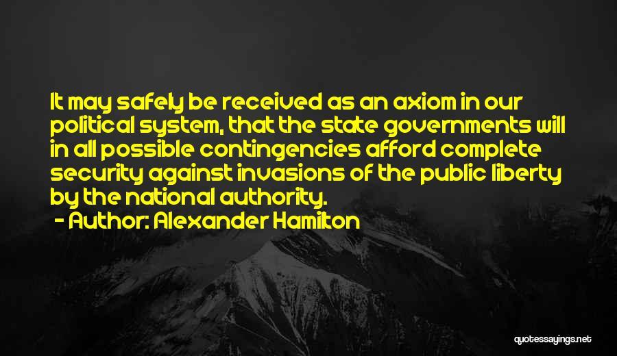 Contingencies Quotes By Alexander Hamilton