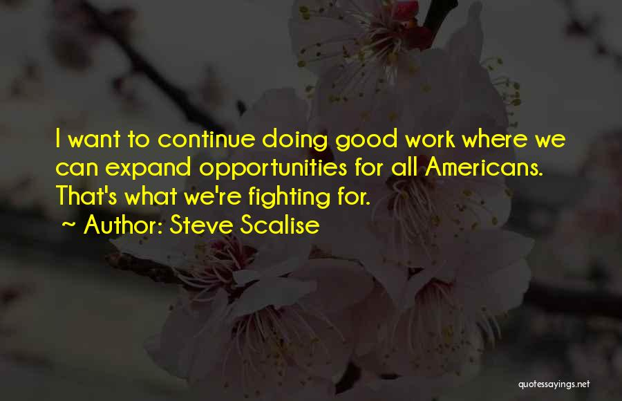 Continue Good Work Quotes By Steve Scalise