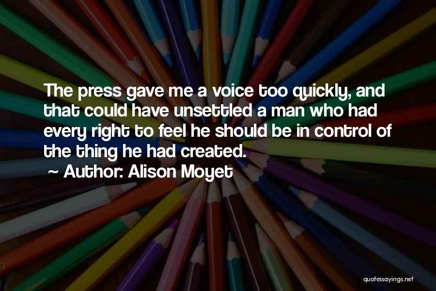 Control The Press Quotes By Alison Moyet