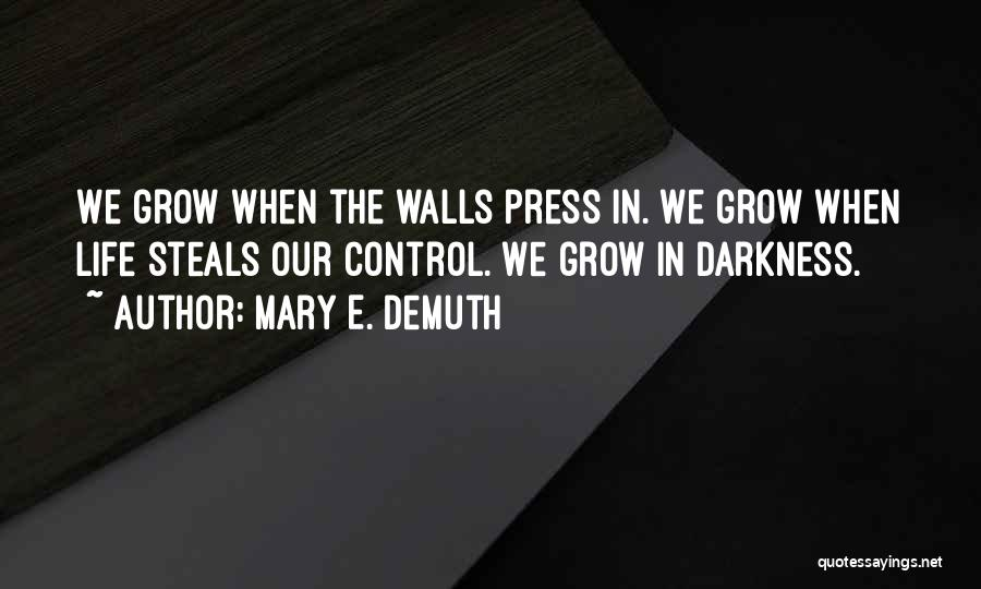 Control The Press Quotes By Mary E. DeMuth