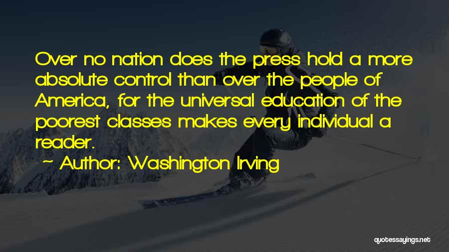 Control The Press Quotes By Washington Irving