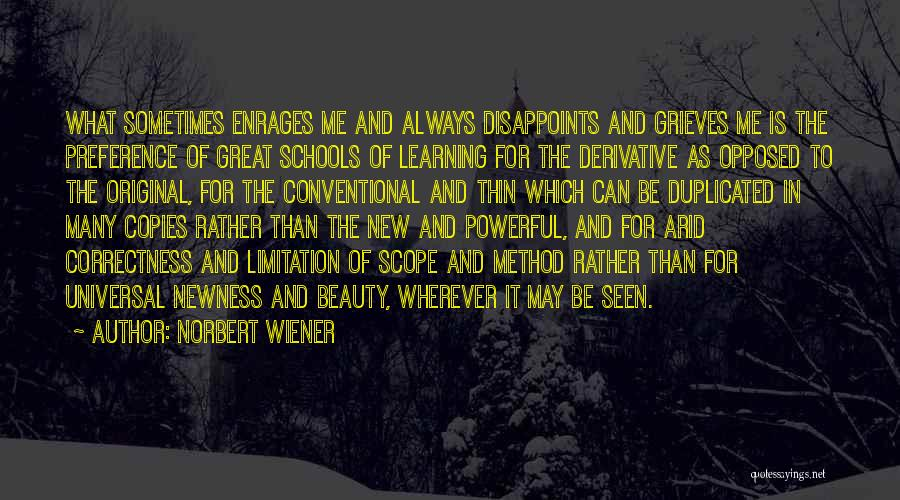 Conventional Beauty Quotes By Norbert Wiener