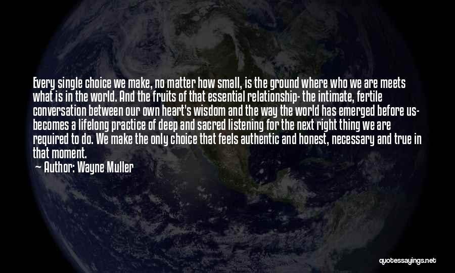Conversation And Listening Quotes By Wayne Muller