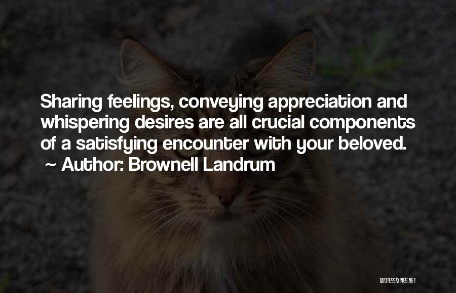 Conveying Quotes By Brownell Landrum