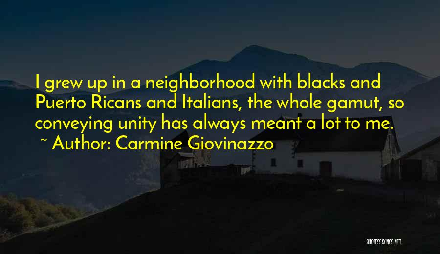 Conveying Quotes By Carmine Giovinazzo