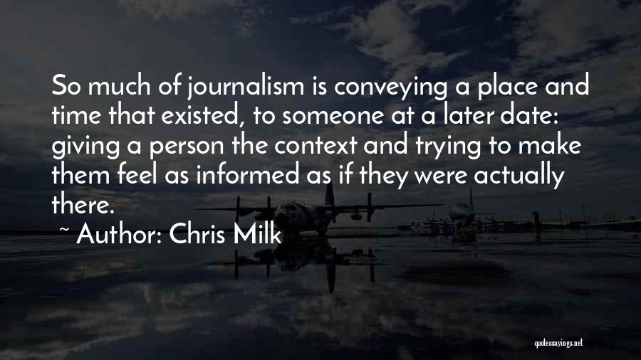 Conveying Quotes By Chris Milk