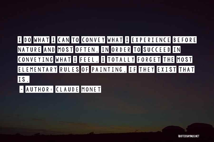 Conveying Quotes By Claude Monet