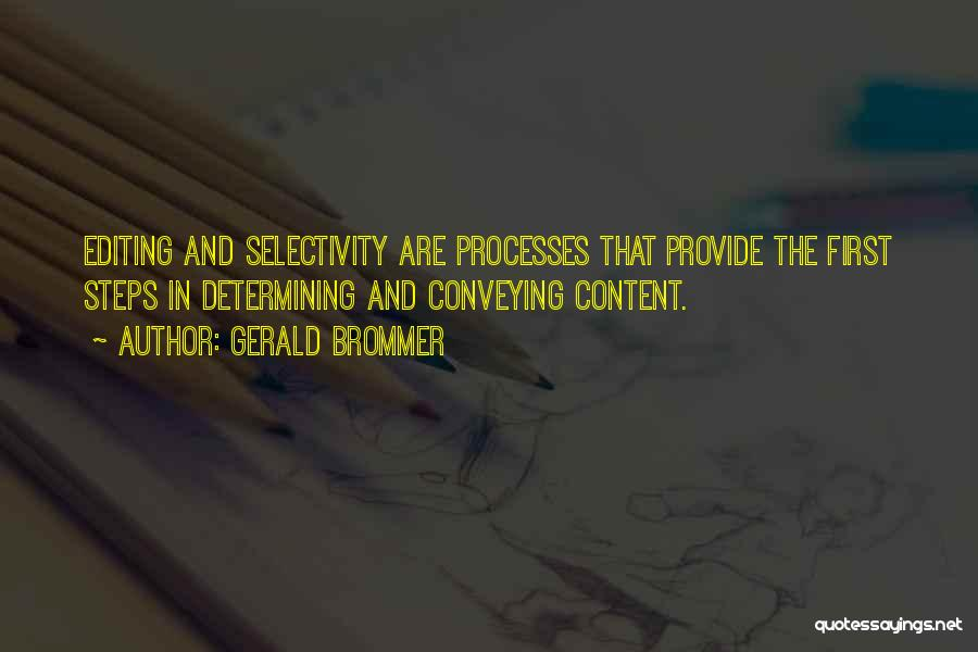 Conveying Quotes By Gerald Brommer