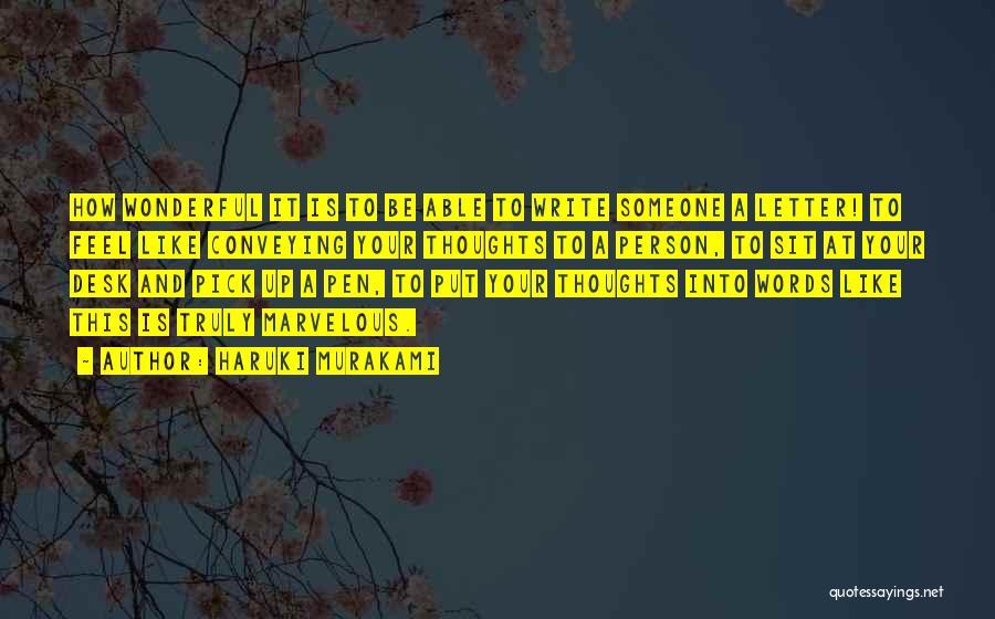 Conveying Quotes By Haruki Murakami