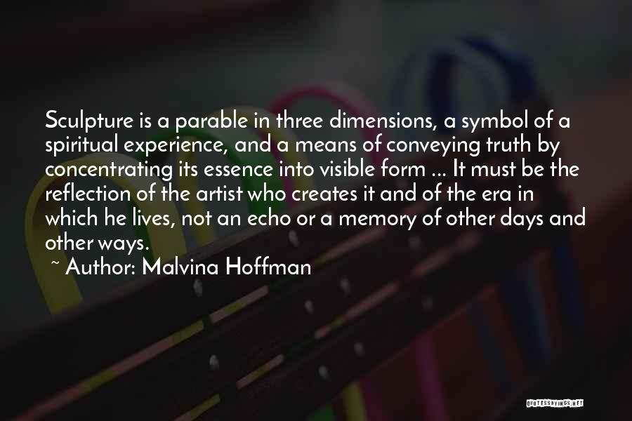 Conveying Quotes By Malvina Hoffman