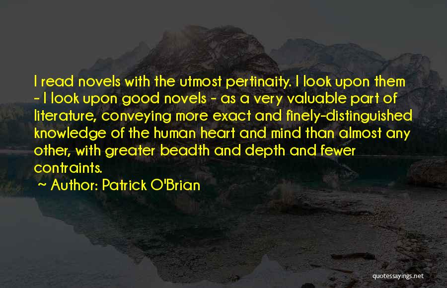 Conveying Quotes By Patrick O'Brian