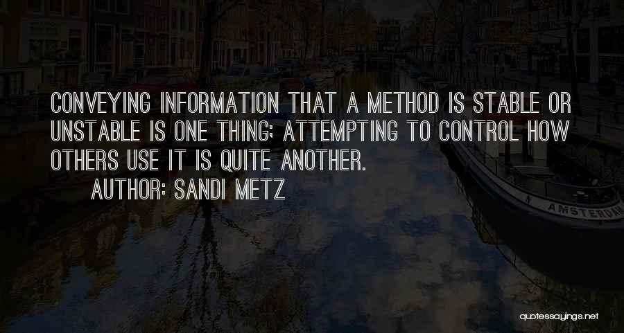 Conveying Quotes By Sandi Metz