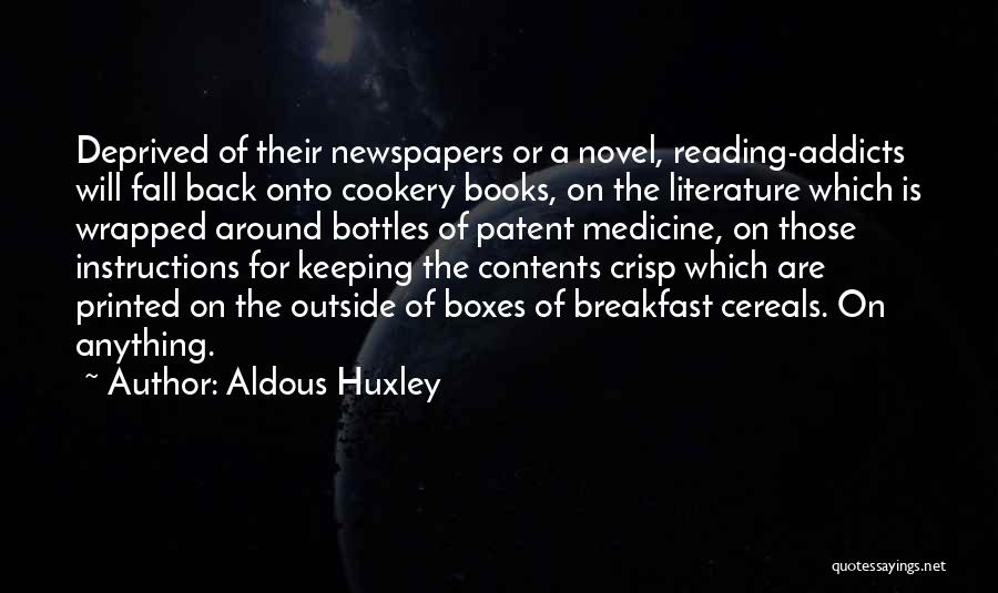 Cookery Quotes By Aldous Huxley