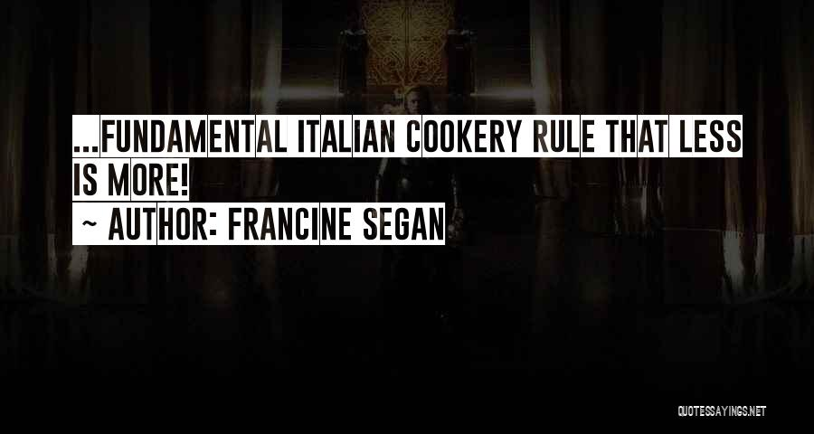Cookery Quotes By Francine Segan