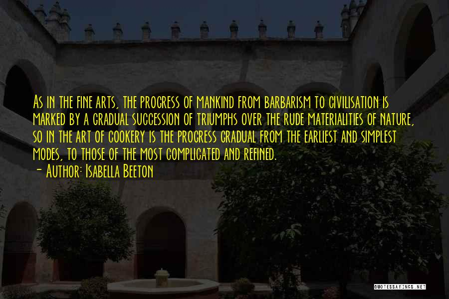 Cookery Quotes By Isabella Beeton
