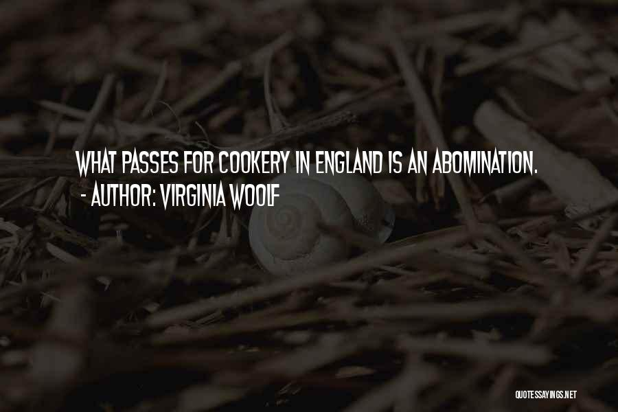 Cookery Quotes By Virginia Woolf