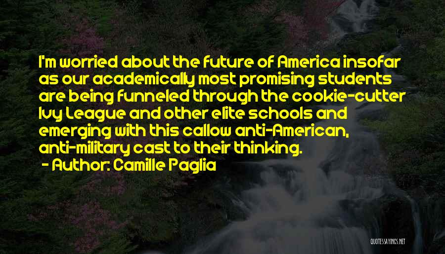 Cookie Cutter Quotes By Camille Paglia