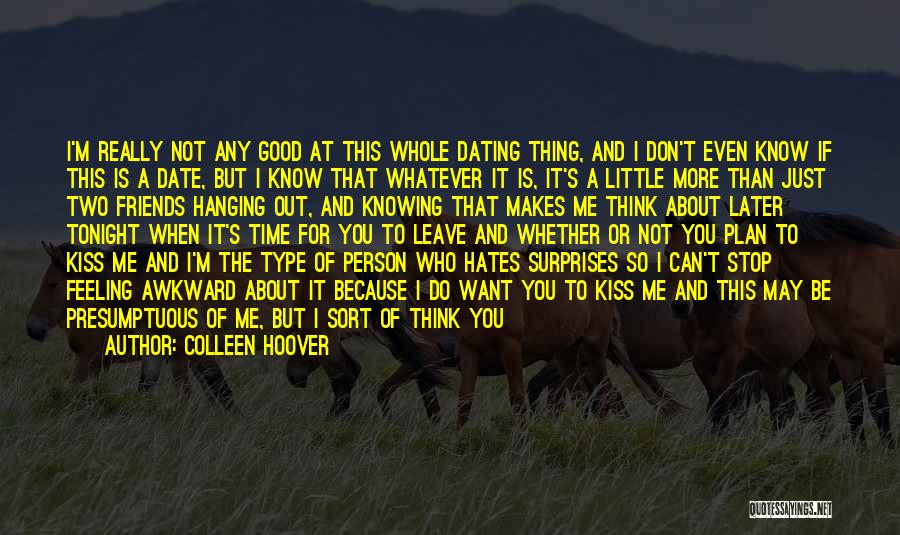 Cooking With Friends Quotes By Colleen Hoover