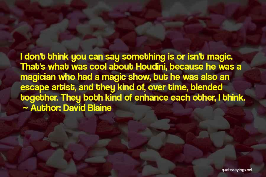 Cool Magician Quotes By David Blaine