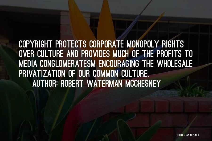 Corporate Culture Quotes By Robert Waterman McChesney