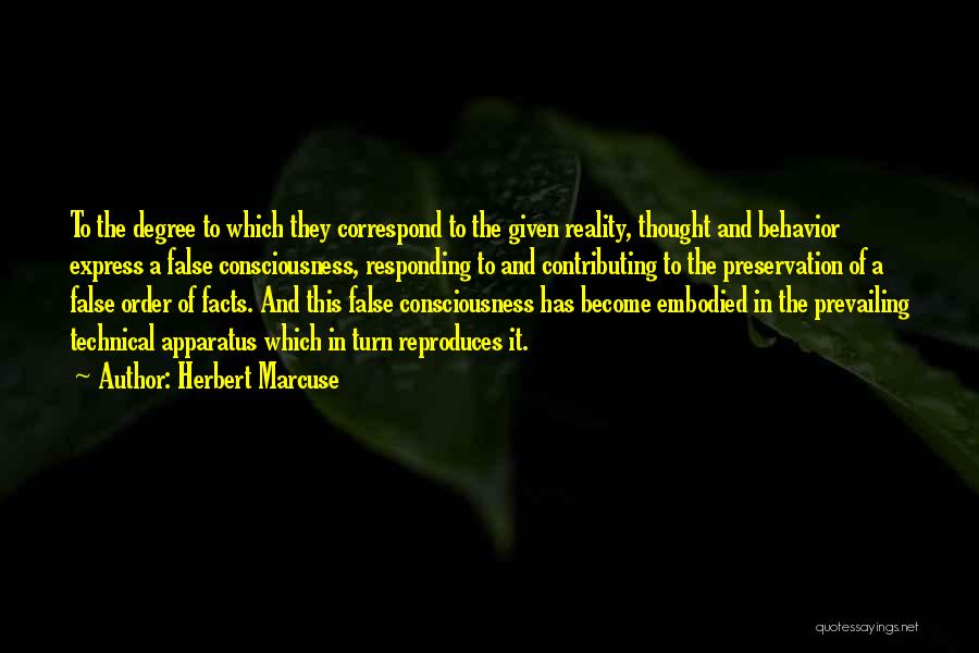Correspond Quotes By Herbert Marcuse