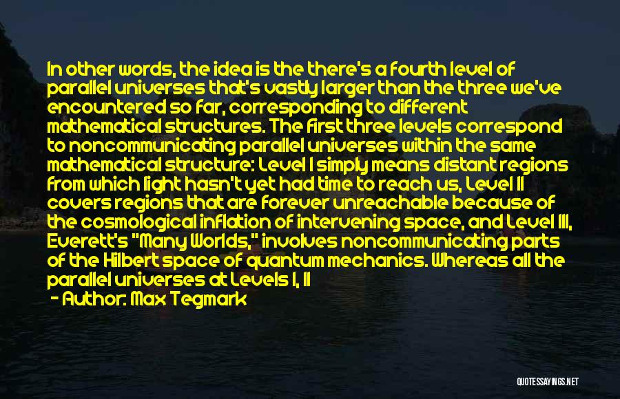 Correspond Quotes By Max Tegmark