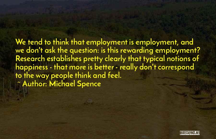 Correspond Quotes By Michael Spence