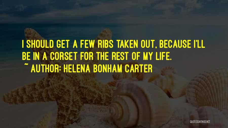 Corset Quotes By Helena Bonham Carter