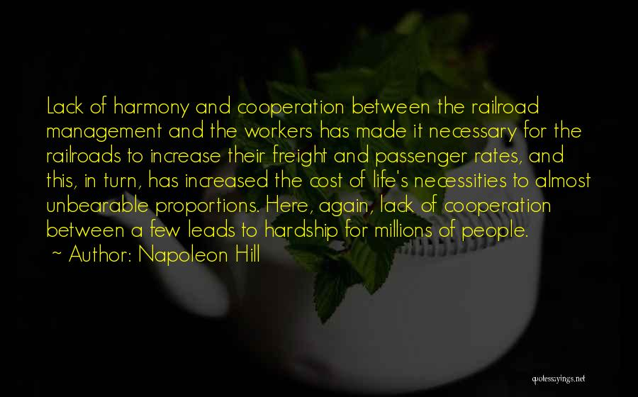 Cost Management Quotes By Napoleon Hill
