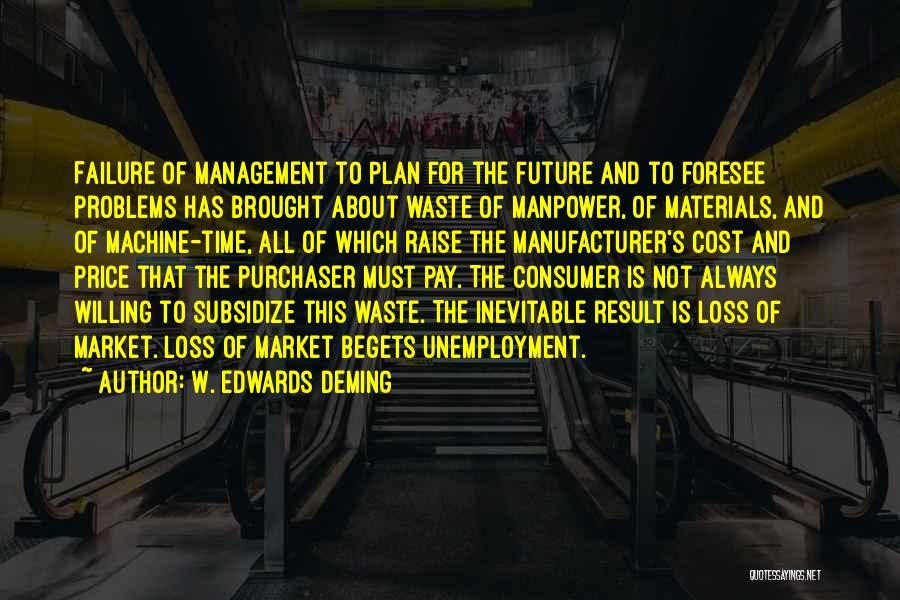 Cost Management Quotes By W. Edwards Deming