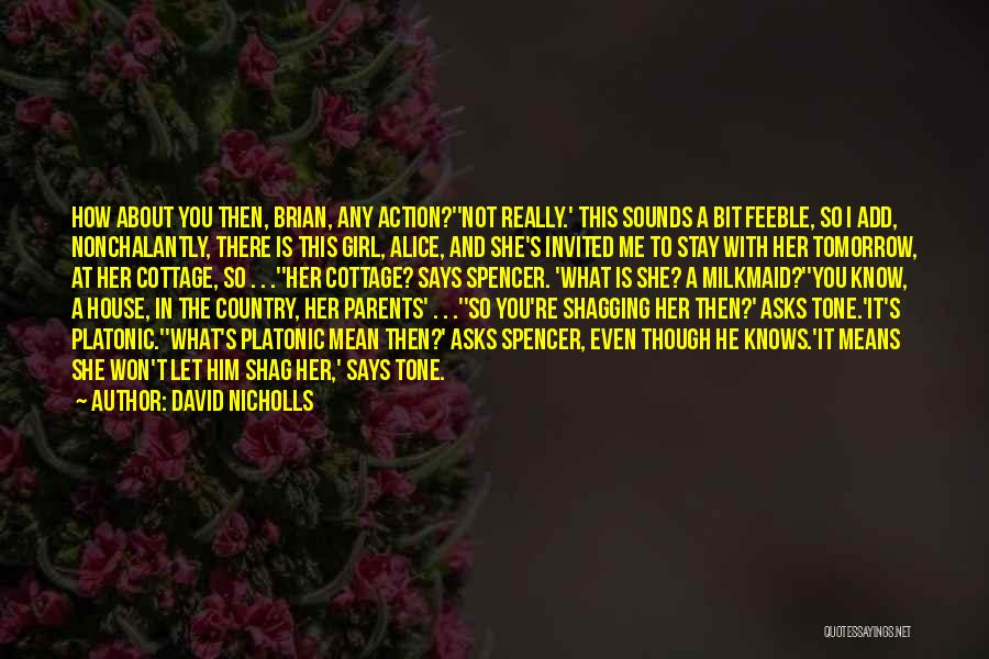 Cottage Quotes By David Nicholls