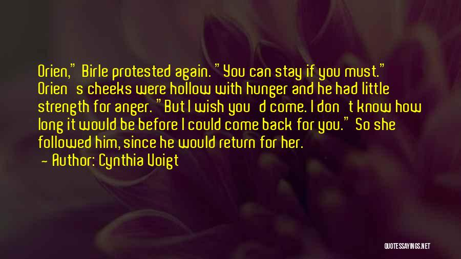 Could It Be Quotes By Cynthia Voigt