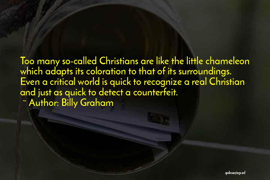 Counterfeit Quotes By Billy Graham