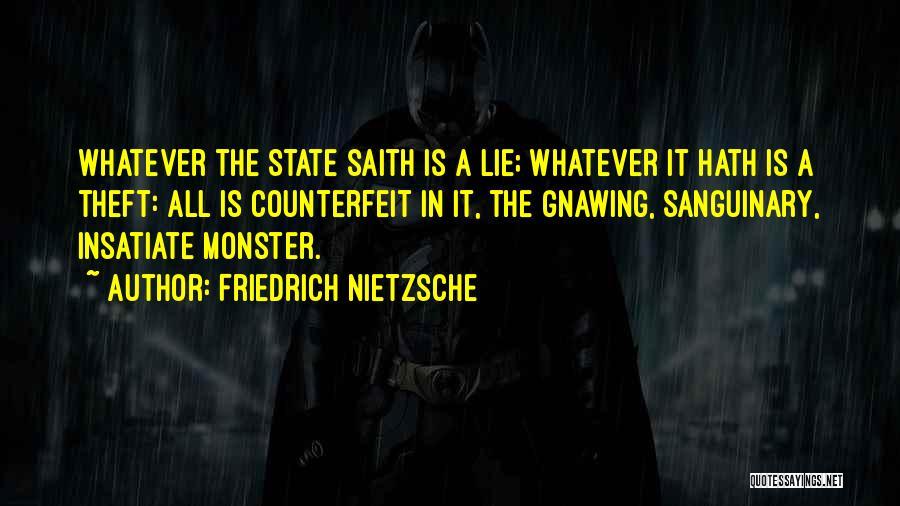 Counterfeit Quotes By Friedrich Nietzsche