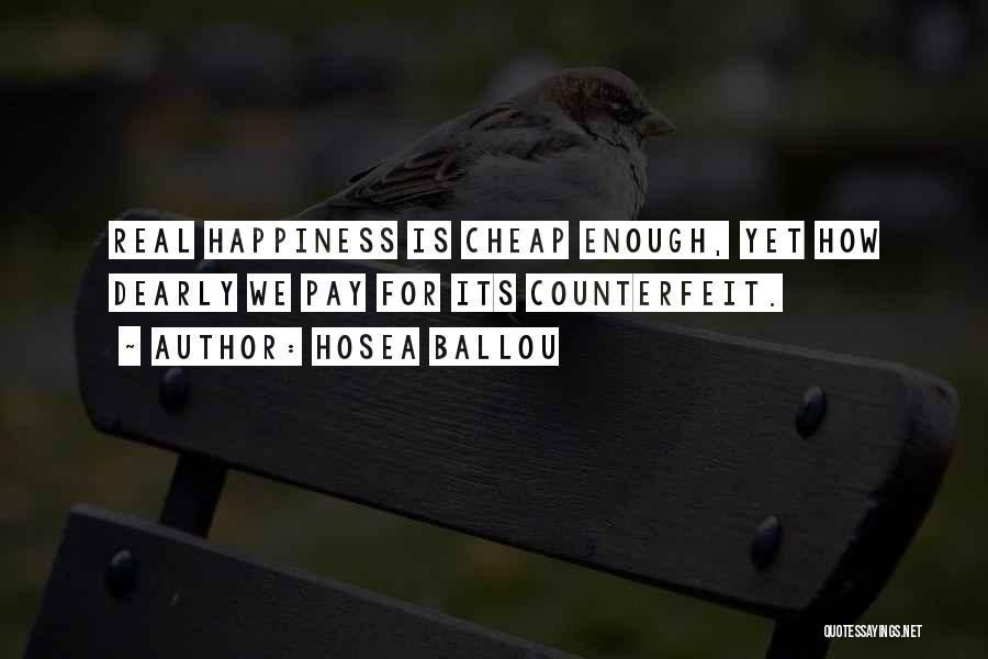 Counterfeit Quotes By Hosea Ballou