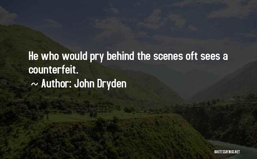 Counterfeit Quotes By John Dryden