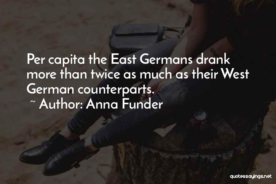 Counterparts Quotes By Anna Funder