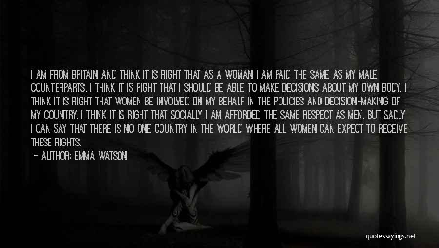 Counterparts Quotes By Emma Watson