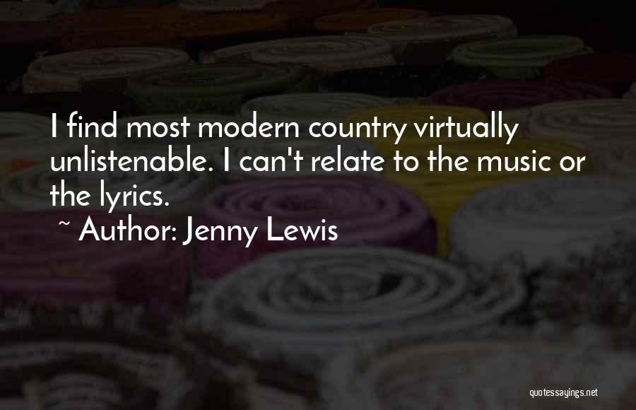 Country Lyrics And Quotes By Jenny Lewis