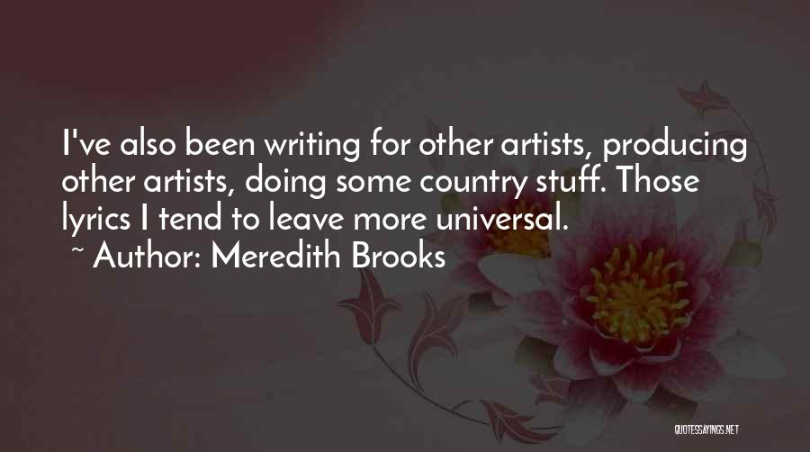 Country Lyrics And Quotes By Meredith Brooks