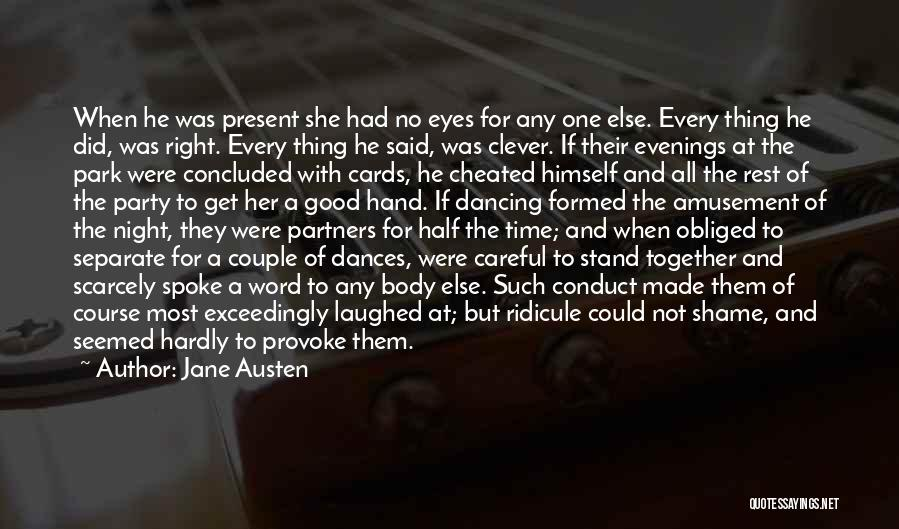 Couple Separate Quotes By Jane Austen