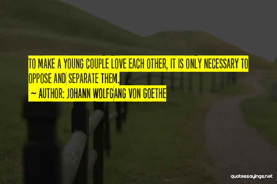 Couple Separate Quotes By Johann Wolfgang Von Goethe