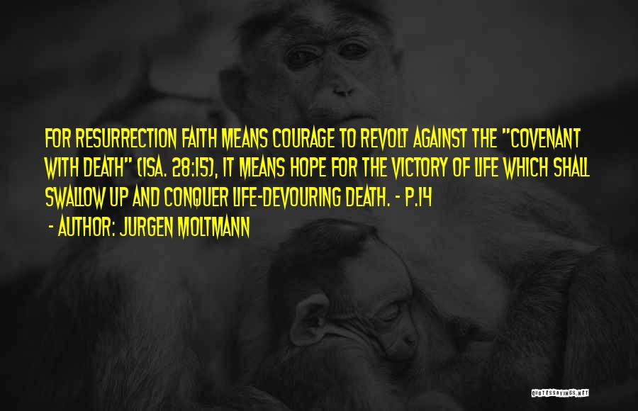 Courage Faith And Hope Quotes By Jurgen Moltmann